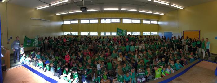 KS1 cheer on Fermanagh