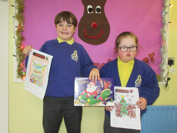Congratulations to Aoife and Edward, P4, who were winners in the SPAR colouring competition