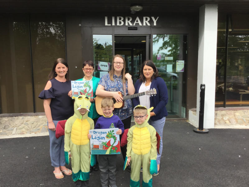 The book launch of 'The Dragon from the Lagan goes to W5' at the Enniskillen Library