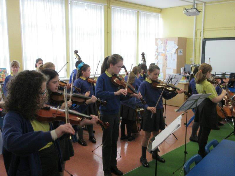 KS2 pupils practice for our Summer Concert