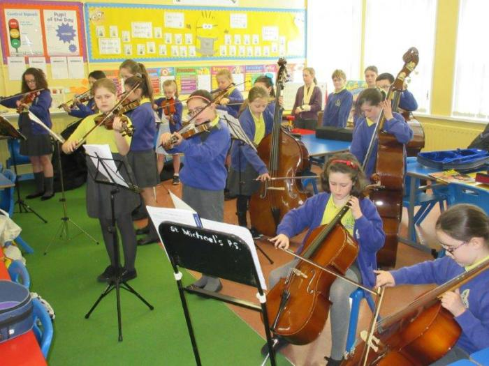 KS2 pupils prepare for the summer concert