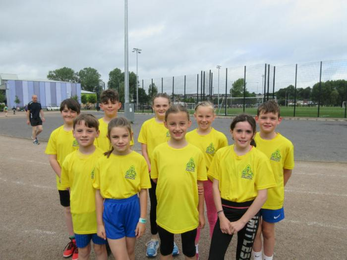 Children from Holy Trinity Running Club who took part in the Enniskillen Parkrun on Saturday 24th June, congratulations on a great run