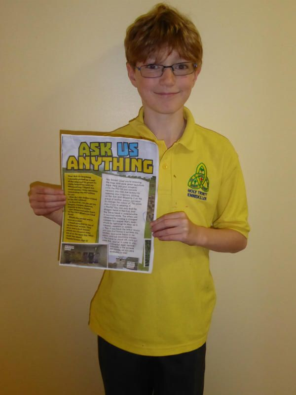Ronan with the article from Minecraft World magazine