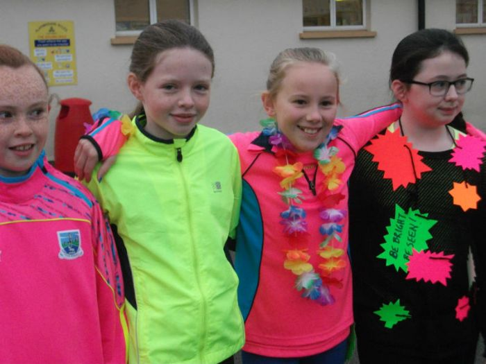 KS2 pupils dress bright for our Ditch the Dark day