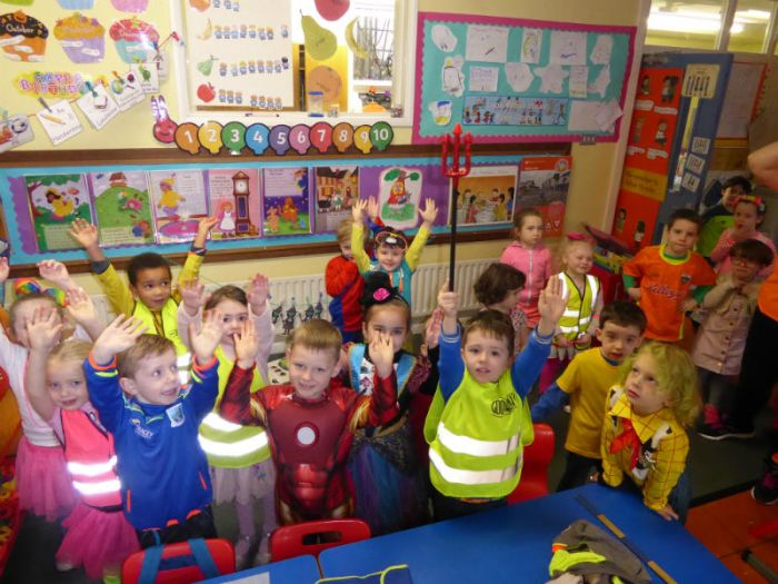 KS1: Our pupils dressed brightly for Ditch the Dark