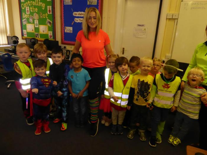 KS1: Dressed up brightly for Ditch the Dark and Halloween