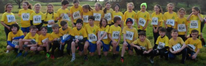 Members of the Holy Trinity Running Club who took part in the Flahanans Cross country (round 2) event
