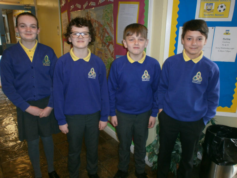 Congratulations to the Holy Trinity quiz team who came 3rd in the Credit Union Quiz regional final