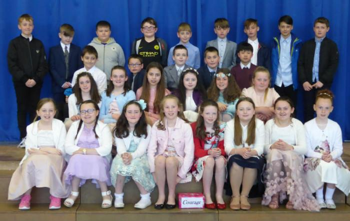 Mr Starrs' P7 Class performed a lovely assembly on Confirmation for school on Wednesday