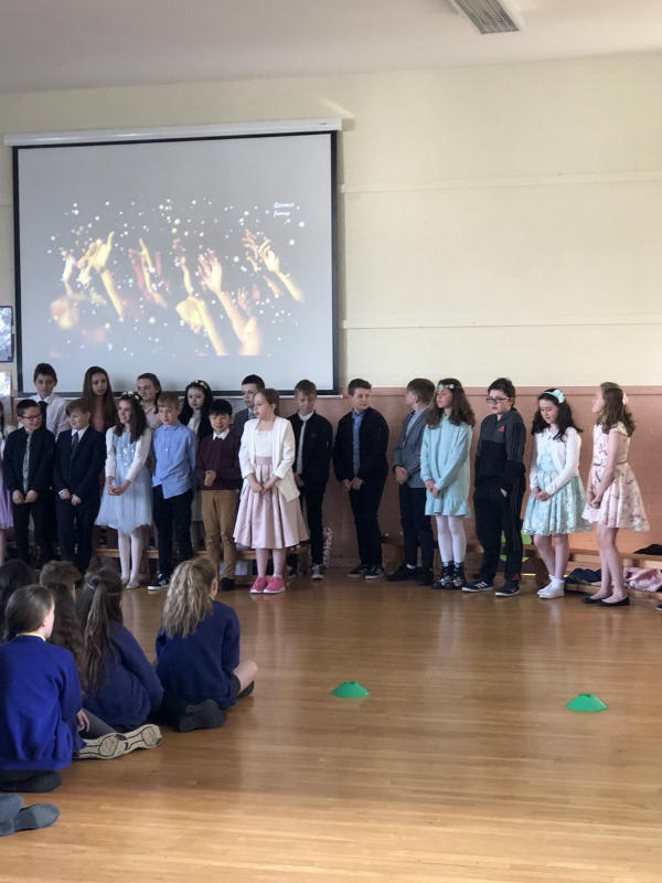 Mr Starrs' P7 Class performed a lovely assembly on Confirmation for school