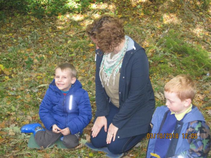 P1 Florencecourt trip: finding leaves & chestnuts