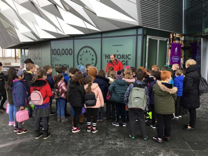 P5 classes enjoy a trip to the Titanic exhibition in Belfast