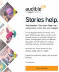 Audible Stories (use Google Chrome)